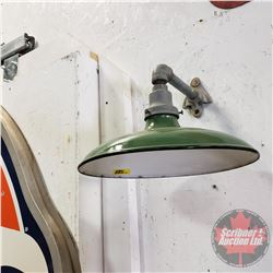 Green Porcelain Outdoor Lamp Shade