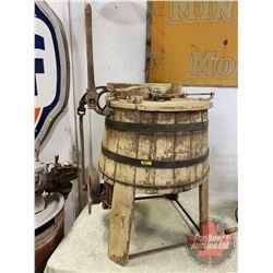 "Lever Action Wood tub Washing Machine  (33""H)"