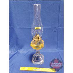 "All Glass Coal Oil Lamp (20""H)"
