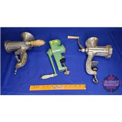Meat Grinders (3) : Green & Silver (2)