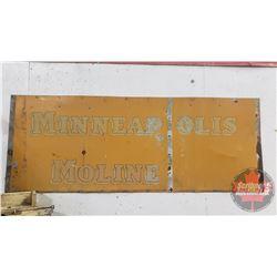 "Minneapolis Moline Tin Panel (68""L x 26""H)"