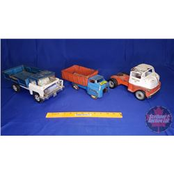 Toy Trucks (3) : Green Giant Co; Hi-Way & Dump Truck