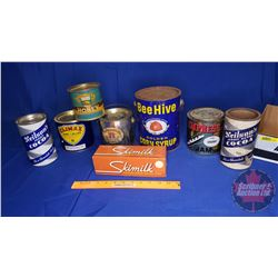 Tray Lot : Confectioner Breakfast Tins (Jam, Honey, Hot Cocoa)