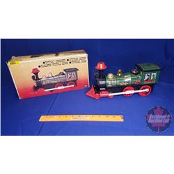 Battery Operated Locomotive Tin Toy