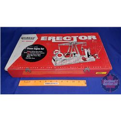 Erector Set in Tin Box (Some pieces may be missing)