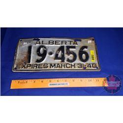 Alberta Lic Plate Expires March 31 - 40
