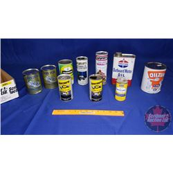 Tray Lot - 2 Stroke Oil Tins: Standard Outboard Motor Oil, Golden Spectro Tins (2 Unopened); Wynn's,