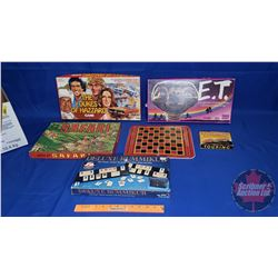 Box Lot: Variety Vintage/Retro Games (Incl: Dukes of Hazzard, ET, Safari, Rummikub, Touring Game & C