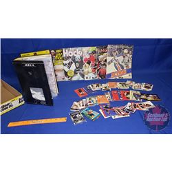 Tray Lot: Hockey Cards & Sticker Albums