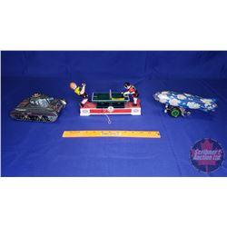 Wind Up Tin Toys (3): Blimp (Working), Tank & Ping Pong Game