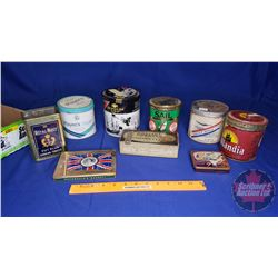 Tray Lot - Tobacco/Cig Tins (9) : British Consols, Players, Daily Mail, Export, etc