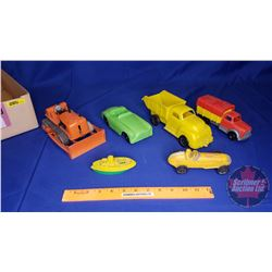 Tray Lot: Vintage Plastic Toys (6)