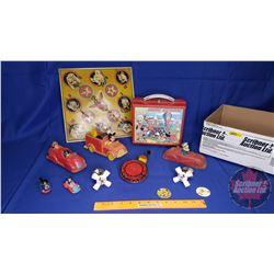 Tray Lot - Disney Theme: Lunch Kit, Taps, Noise Maker, etc