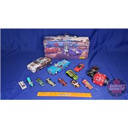 Shelby Motif Tool Box w/Contents: Richard Petty Die Cast Toy, Viper Toy & Variety of Toy Cars)