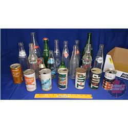 Variety of Pop Bottles/Cans (21)