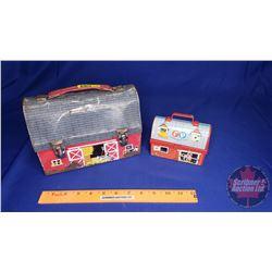 "Tin Lunch Box ""Barn"" + Little Toy Barn Lunch Kit"