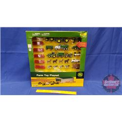 "ERTL ""John Deere"" Farm Toy Playset Includes Machine Shed"