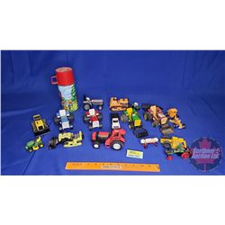 Large Assortment of Farm Toys + Thermos