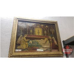 """3 Framed Religious Prints (Largest 22"""" x 19"""")"""