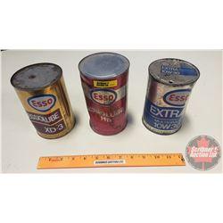 Esso Oil Tins (2 Full)