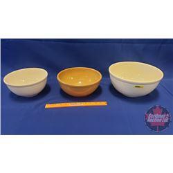 Mixing Bowls (3) (Bottoms Stamped : Sleepy Indian, Medalta, 10)