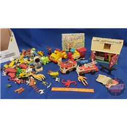 Box Lot - Variety Fisher Price Toys (Fire Engine, Barn, Train, etc)