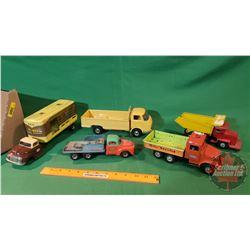 Tray Lot - Tin Toy Trucks (5)