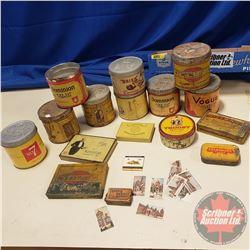 Tray Lot - Tobacco/Cig Tins: Sportsman, Wills', Gold Flake, Kensitas, etc)
