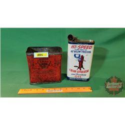 Cream Separator Oil Tins (1 Hi-Speed - FULL) (1 DeLaval)