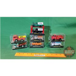 "Collection of Diecast by Castline (7) in Display Cases (4""L x 2""H)"