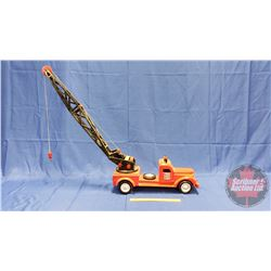 """Large Wooden Toy Truck - Crane """"Dad's Garage"""" (24""""L)"""