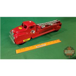 "Metal Toy: Lincoln Fire Department Ladder Truck (18-1/2""L)"