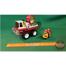 Buddy L Metal/Plastic Toy Truck : Fire Dept. & Plastic Walking Toy Fireman