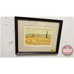 "Framed Print ""Alberta Harvest"" (George Webber known for Silk Screen Prints) (15"" x 12"")"