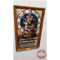 "Budweiser Mirror Clock (21-1/2"" x 13-1/2"")"