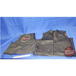 Leather Vests (2) Both XXL (First Classics & Indian)