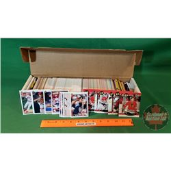 Box of Assorted Baseball & Hockey Cards (Approx 600+)