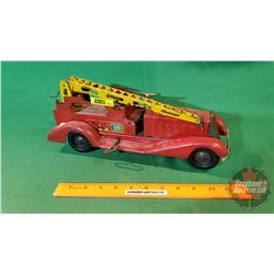 "Wind up Toy Metal Fire Truck ""V.F.D."""