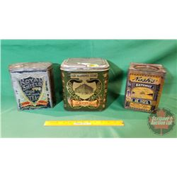 Tea Tins: (3) T. Eaton Co., Royal Shield, Nash's