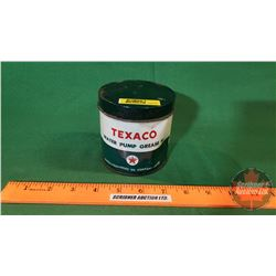 """Grease Tin: Texaco Water Pump Grease W (4""""H) (Partially Full)"""
