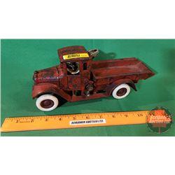 """Cast Iron Toy: Arcade Dump Truck w/ Driver (10.5""""L x 3.25W x 4.25H)"""