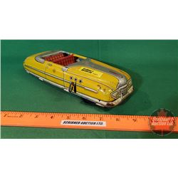 Tin Toy: Marx Yellow Wind Up Car (not working)