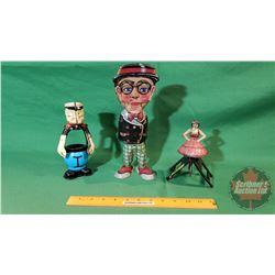 Tin Toys:(need restoring)  Popeye, Ballerina, Man