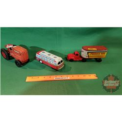 Tin Toys Combo: Tractor, Bus and Semi