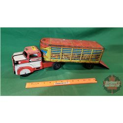 Tin Toy: Livestock Truck and Trailer