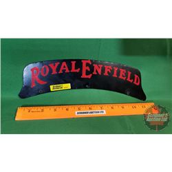 """Motorcycle Fender Sign: """"Royal Enfield"""" (Double Sided) Metal w/Decals"""
