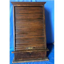 "Canadian Pacific Ticket Counter - Wood Cabinet (22-1/4""W x 14""D x 36""H)"