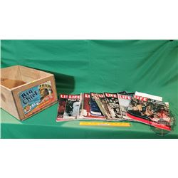 LIFE Magazines (10) (50's, 60's, 70's) Important Covers! With Wood Fruit Box