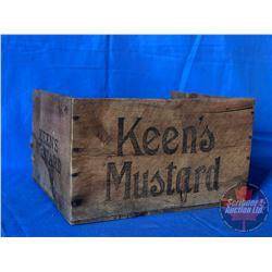 """Keen's Mustard Wooden Box (11"""" x !2"""" x 7"""")"""