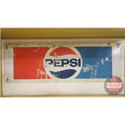 "Pepsi Metal Vending Machine Insert ( 10"" x 30"")"